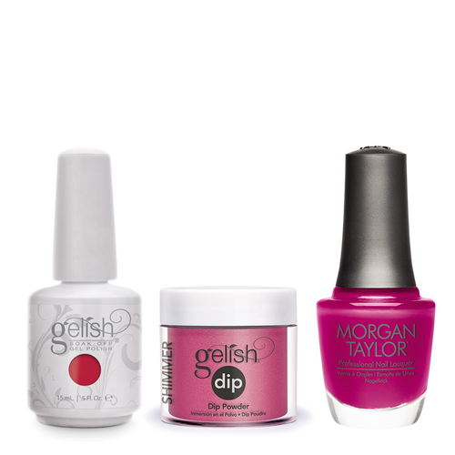Gelish 3in1 Dipping Powder + Gel Polish + Nail Lacquer, 0.8oz, Warm Up The Car-nation
