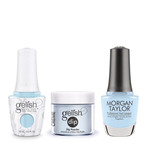 Gelish 3in1 Dipping Powder + Gel Polish + Nail Lacquer, 0.8oz, Water Baby