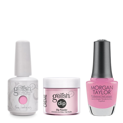 Gelish 3in1 Dipping Powder + Gel Polish + Nail Lacquer, You're So Sweet, You're Giving Me A Toothache, 908