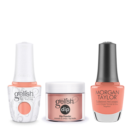 Gelish 3in1 Dipping Powder + Gel Polish + Nail Lacquer 1, The Color Of Petals Collection, 343, Young, Wild & Free OK0115LK