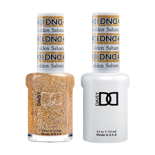 DND Nail Lacquer And Gel Polish, 401, Golden Sahara Star, 0.5oz KK1203