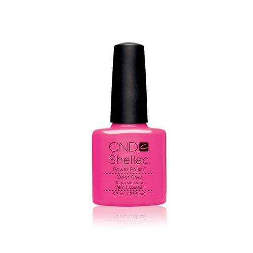 CND Shellac Gel Polish, 40519, Hot Pop Pink, 0.25oz KK0824