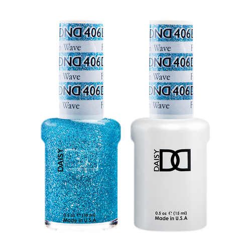 DND Nail Lacquer And Gel Polish, 406, Frozen Wave, 0.5oz KK1211