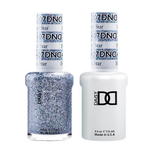 DND Nail Lacquer And Gel Polish, 407, Black Diamond Star, 0.5oz KK1211