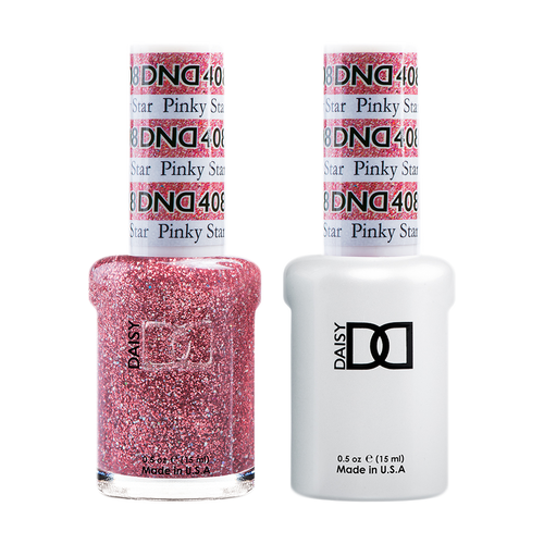 DND Nail Lacquer And Gel Polish, 408, Pinky Star, 0.5oz KK1203