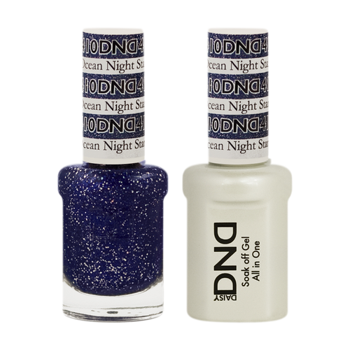 DND Nail Lacquer And Gel Polish, 410, Ocean Night Star, 0.5oz KK0918