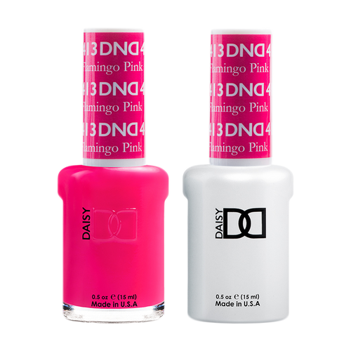 DND Nail Lacquer And Gel Polish, 413, Flamingo Pink, 0.5oz KK1008