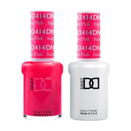 DND Nail Lacquer And Gel Polish, 414, Summer Hot Pink, 0.5oz KK1008