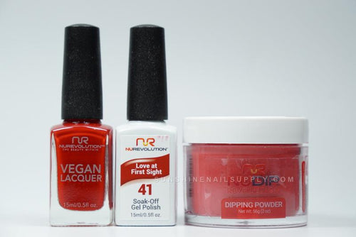 NuRevolution 3in1 Dipping Powder + Gel Polish + Nail Lacquer, 2oz, Love At First Sight KK