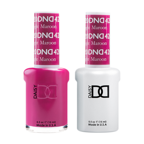 DND Nail Lacquer And Gel Polish, 420, Bright Maroon, 0.5oz KK1203