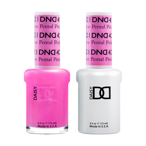 DND Nail Lacquer And Gel Polish, 421, Rose Petal Pink, 0.5oz KK1008
