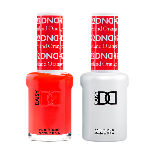 DND Nail Lacquer And Gel Polish, 422, Portland Orange, 0.5oz KK1008