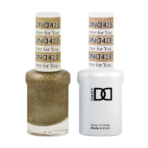 DND Nail Lacquer And Gel Polish, 423, Glitter For You, 0.5oz KK0918