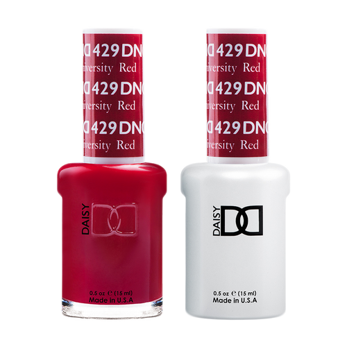 DND Nail Lacquer And Gel Polish, 429, Boston University Red, 0.5oz KK1206