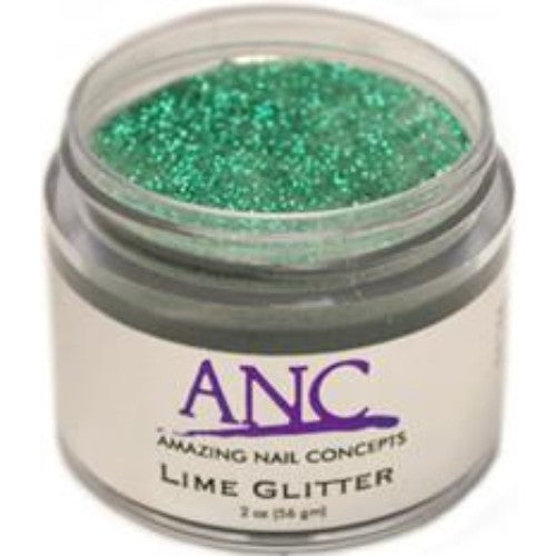 ANC Dipping Powder, 2OP042, Lime Glitter, 2oz, 600042 KK