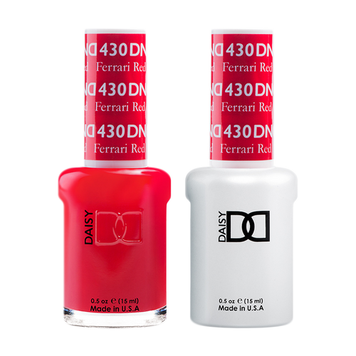 DND Nail Lacquer And Gel Polish, 430, Ferrari Red, 0.5oz KK1211