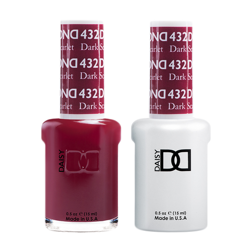 DND Nail Lacquer And Gel Polish, 432, Dark Scarlet, 0.5oz KK1206