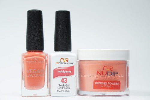 NuRevolution 3in1 Dipping Powder + Gel Polish + Nail Lacquer, 2oz, Indulgence KK