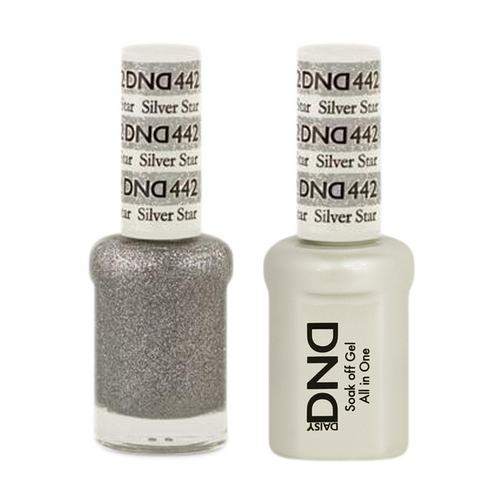 DND Nail Lacquer And Gel Polish, 442, Silver Star, 0.5oz KK1211