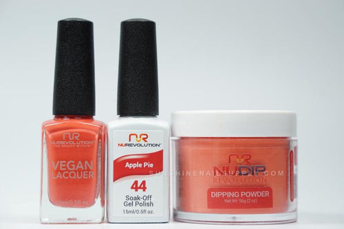 NuRevolution 3in1 Dipping Powder + Gel Polish + Nail Lacquer, 2oz, Apple Pie KK