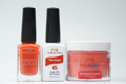 NuRevolution 3in1 Dipping Powder + Gel Polish + Nail Lacquer, 2oz, Red Carpet KK