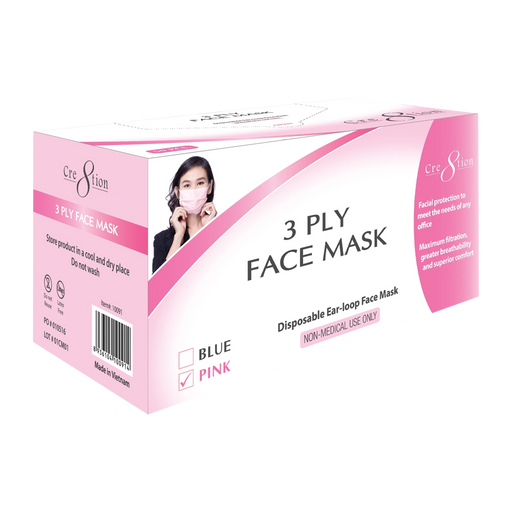 Cre8tion 3 Ply Face Mask BOX, Pink, 10091 BB