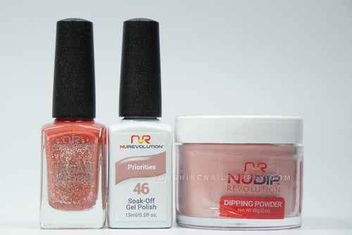 NuRevolution 3in1 Dipping Powder + Gel Polish + Nail Lacquer, 2oz, Priorities KK
