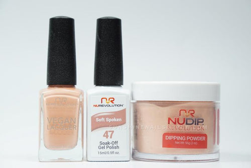 NuRevolution 3in1 Dipping Powder + Gel Polish + Nail Lacquer, 2oz, Soft Spoken KK