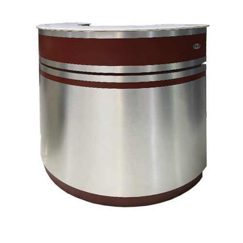 SPA Reception Desk, Aluminum/Burgundy, C-48AB (NOT Included Shipping Charge)