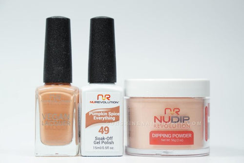 NuRevolution 3in1 Dipping Powder + Gel Polish + Nail Lacquer, 2oz, Pumpkin Spice Everything KK