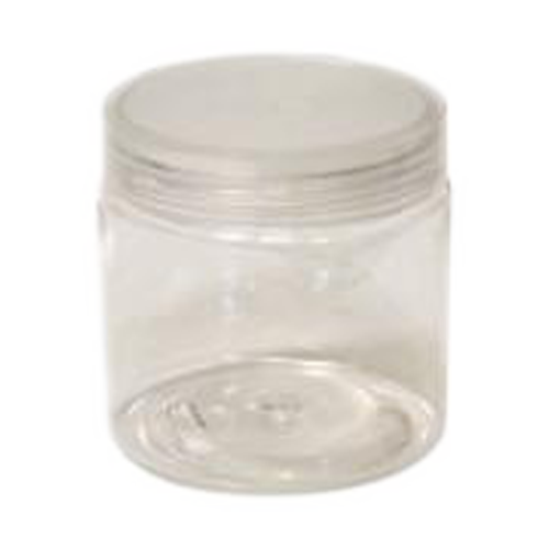 Cre8tion Clear Plastic Jar, 4oz, 26058
