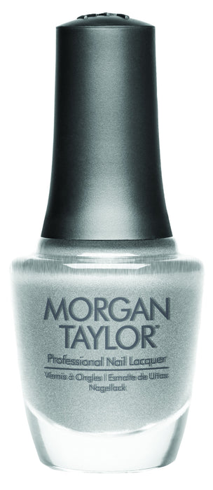 Morgan Taylor, 50193, Gifted With Style Collection, Tinsel My Fancy- Silver Textured Metallic, 0.5oz
