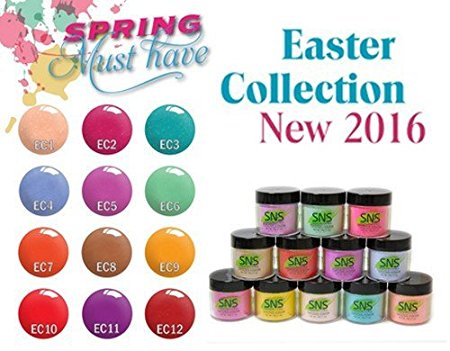 SNS Gelous Dipping Powder 1, Easter Collection, 1oz, Full Line Of 12 Colors (from EC01 to EC12, Price: $11.92/pc) Pro