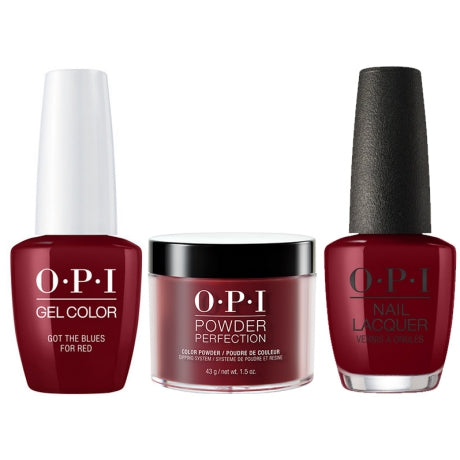 OPI 3in1, DGLW52, Got The Blues For Red , 1.5oz
