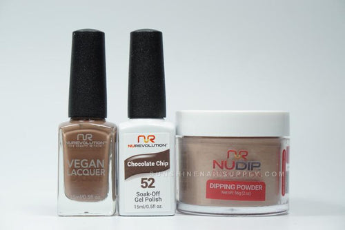 NuRevolution 3in1 Dipping Powder + Gel Polish + Nail Lacquer, 2oz, Chocolate Chip KK