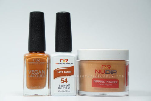 NuRevolution 3in1 Dipping Powder + Gel Polish + Nail Lacquer, 2oz, Let's Toast KK