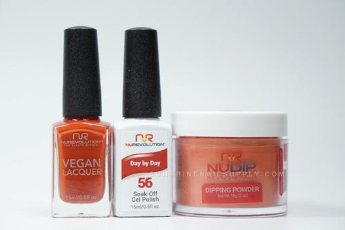 NuRevolution 3in1 Dipping Powder + Gel Polish + Nail Lacquer, 2oz, Day By Day KK