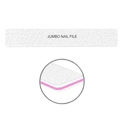Cre8tion Nail Files JUMBO WHITE Sand, Grit 80/100, 30pks/case, 50pcs/pack, 07015