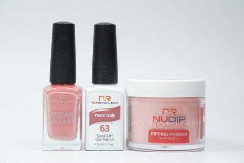 NuRevolution 3in1 Dipping Powder + Gel Polish + Nail Lacquer, 063, Yours Tuly OK1129