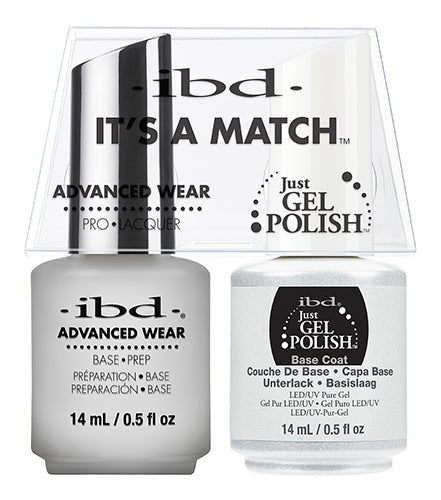 IBD Just Gel Polish, 65463, It's A Match Duo, Base Coat, 0.5oz KK