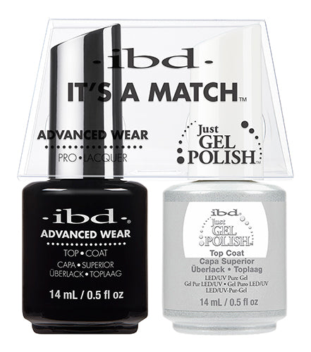 IBD Just Gel Polish, 65464, It's A Match Duo, Top Coat, 0.5oz KK