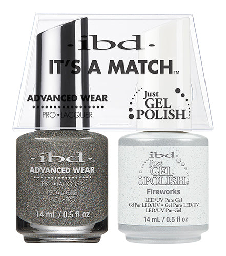 IBD Just Gel Polish, 65465, It's A Match Duo, Fireworks, 0.5oz KK