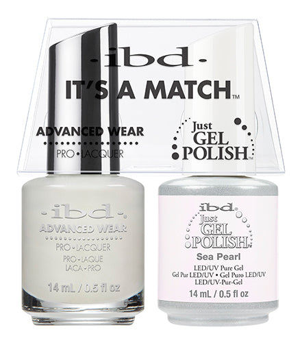 IBD Just Gel Polish, 65466, It's A Match Duo, Sea Pearl, 0.5oz KK