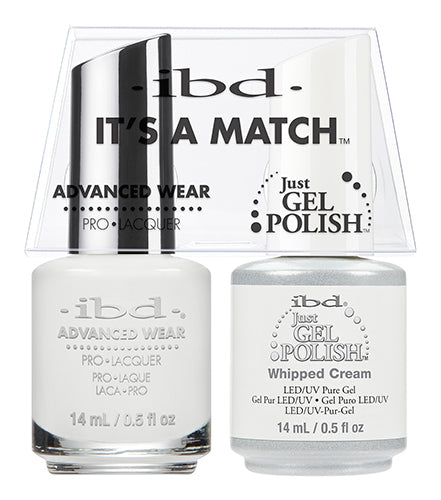 IBD Just Gel Polish, 65467, It's A Match Duo, Whipped Cream, 0.5oz KK1022