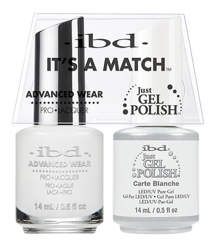 IBD Just Gel Polish, 65468, It's A Match Duo, Carte Blanche, 0.5oz KK