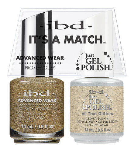 IBD Just Gel Polish, 65470, It's A Match Duo, All That Glitters, 0.5oz KK