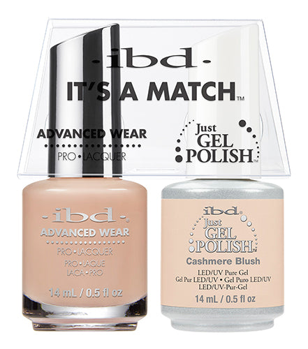 IBD Just Gel Polish, 65472, It's A Match Duo, Cashmere Blush, 0.5oz KK