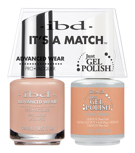 IBD Just Gel Polish, 65473, It's A Match Duo, Indie Oasis, 0.5oz KK