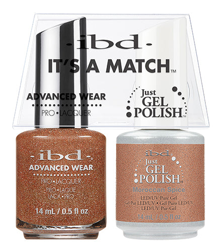 IBD Just Gel Polish, 65474, It's A Match Duo, Moroccan Spice, 0.5oz KK