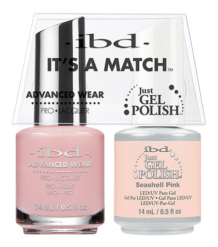 IBD Just Gel Polish, 65477, It's A Match Duo, Seashell Pink, 0.5oz KK
